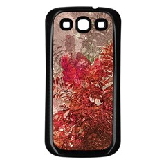 Decorative Flowers Collage Samsung Galaxy S3 Back Case (black) by dflcprints