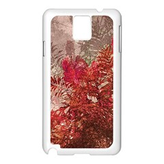 Decorative Flowers Collage Samsung Galaxy Note 3 N9005 Case (white) by dflcprints
