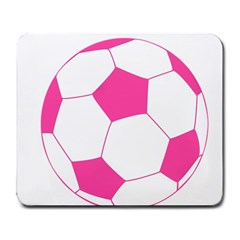Soccer Ball Pink Large Mouse Pad (rectangle) by Designsbyalex