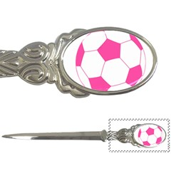Soccer Ball Pink Letter Opener by Designsbyalex