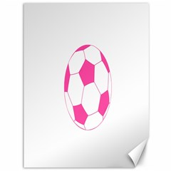 Soccer Ball Pink Canvas 36  X 48  (unframed) by Designsbyalex