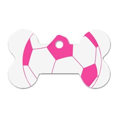Soccer Ball Pink Dog Tag Bone (one Sided) by Designsbyalex