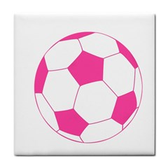 Soccer Ball Pink Face Towel by Designsbyalex
