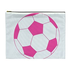 Soccer Ball Pink Cosmetic Bag (xl) by Designsbyalex