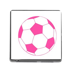 Soccer Ball Pink Memory Card Reader With Storage (square) by Designsbyalex