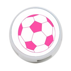 Soccer Ball Pink 4 Port Usb Hub (one Side) by Designsbyalex