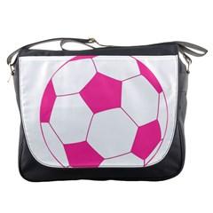 Soccer Ball Pink Messenger Bag by Designsbyalex