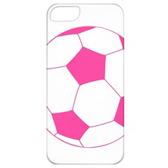 Soccer Ball Pink Apple Iphone 5 Classic Hardshell Case by Designsbyalex