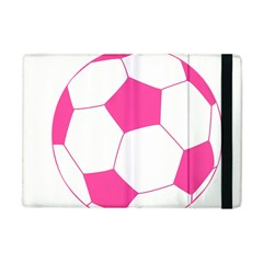 Soccer Ball Pink Apple Ipad Mini Flip Case by Designsbyalex