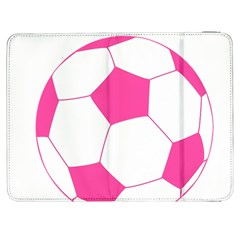 Soccer Ball Pink Samsung Galaxy Tab 7  P1000 Flip Case by Designsbyalex