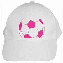 Soccer Ball Pink White Baseball Cap by Designsbyalex