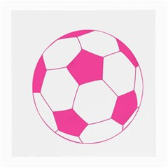 Soccer Ball Pink Glasses Cloth (medium, Two Sided) by Designsbyalex