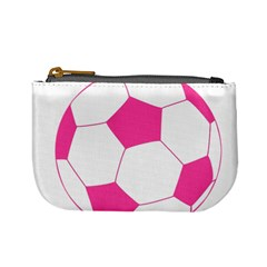 Soccer Ball Pink Coin Change Purse by Designsbyalex