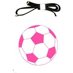 Soccer Ball Pink Shoulder Sling Bag by Designsbyalex