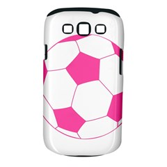 Soccer Ball Pink Samsung Galaxy S Iii Classic Hardshell Case (pc+silicone) by Designsbyalex