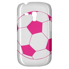 Soccer Ball Pink Samsung Galaxy S3 Mini I8190 Hardshell Case by Designsbyalex