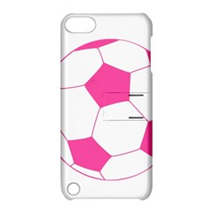 Soccer Ball Pink Apple Ipod Touch 5 Hardshell Case With Stand by Designsbyalex