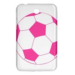 Soccer Ball Pink Samsung Galaxy Tab 3 (7 ) P3200 Hardshell Case  by Designsbyalex