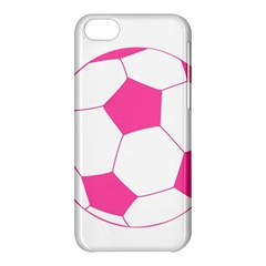 Soccer Ball Pink Apple Iphone 5c Hardshell Case by Designsbyalex