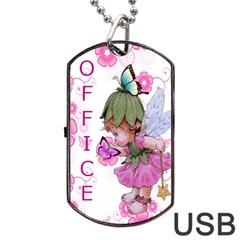 Pink Fairy Usb Dog Tag Flash (two Sides) By Kim Blair   Dog Tag Usb Flash (two Sides)   N5bcf5knaa4z   Www Artscow Com Front