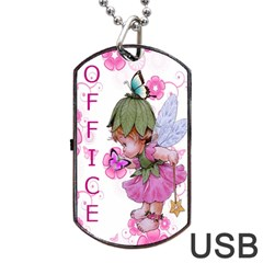 Pink Fairy Usb Dog Tag Flash (two Sides) By Kim Blair   Dog Tag Usb Flash (two Sides)   N5bcf5knaa4z   Www Artscow Com Back