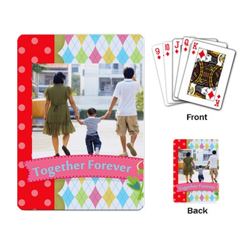 Family By Family   Playing Cards Single Design   4eu4yg7ug7hu   Www Artscow Com Back