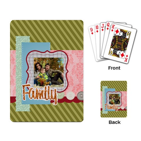 Family By Family   Playing Cards Single Design   I81t8nn3dzex   Www Artscow Com Back