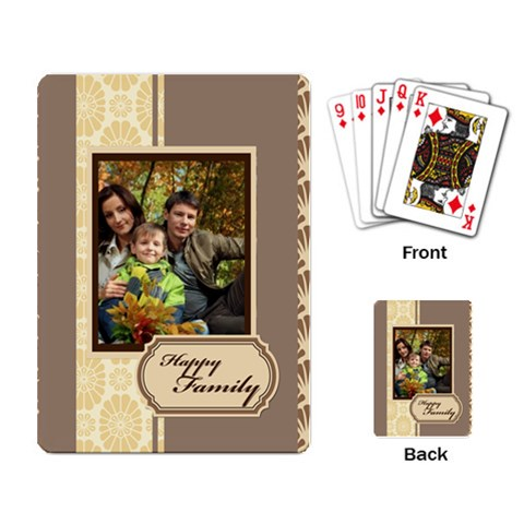 Family By Family   Playing Cards Single Design   Tlt9snx57hmy   Www Artscow Com Back