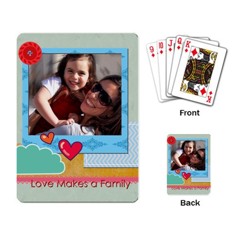 Family By Family   Playing Cards Single Design   F4pv247tu2jt   Www Artscow Com Back