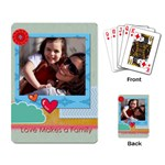 family - Playing Cards Single Design