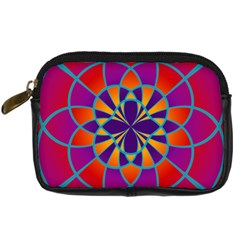 Mandala Digital Camera Leather Case by SaraThePixelPixie