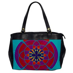 Mandala Oversize Office Handbag (one Side) by SaraThePixelPixie