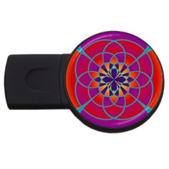 Mandala 1GB USB Flash Drive (Round) by SaraThePixelPixie