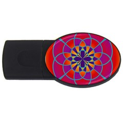 Mandala 4gb Usb Flash Drive (oval) by SaraThePixelPixie