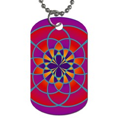 Mandala Dog Tag (two Sided)  by SaraThePixelPixie