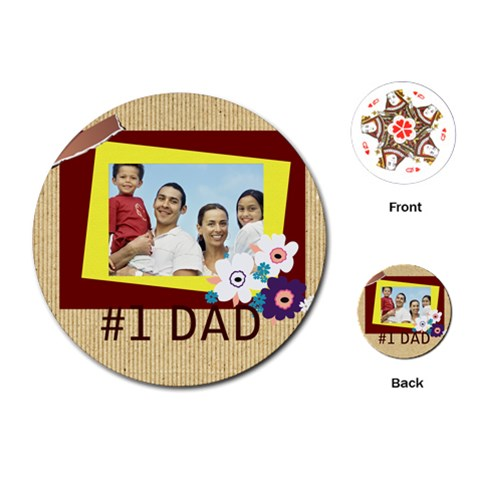 Fathers Day By Dad   Playing Cards (round)   Et3o4x5yqtq2   Www Artscow Com Front