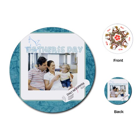 Fathers Day By Dad   Playing Cards (round)   Yawucr3us1j8   Www Artscow Com Front