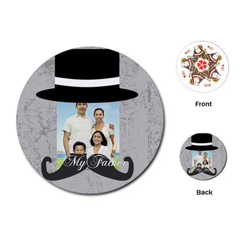 Fathers Day By Dad   Playing Cards (round)   Uynpc81ij1xg   Www Artscow Com Front