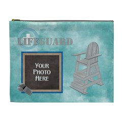 Lifeguard Xl Cosmetic Bag By Lisa Minor   Cosmetic Bag (xl)   S8r46q4ogv3j   Www Artscow Com Front