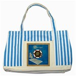Lifeguard Tote - Striped Blue Tote Bag
