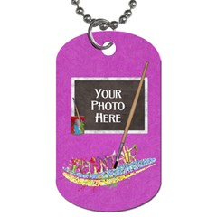 Artist 2 Sided Dog Tag 2 By Lisa Minor   Dog Tag (two Sides)   B0sg76j5stoq   Www Artscow Com Front