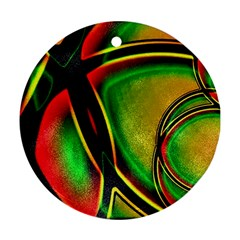 Multicolored Modern Abstract Design Round Ornament by dflcprints