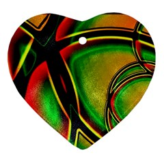Multicolored Modern Abstract Design Heart Ornament by dflcprints