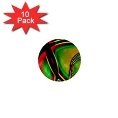 Multicolored Modern Abstract Design 1  Mini Button (10 Pack)