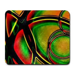 Multicolored Modern Abstract Design Large Mouse Pad (rectangle) by dflcprints