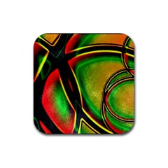 Multicolored Modern Abstract Design Drink Coaster (square) by dflcprints