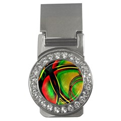 Multicolored Modern Abstract Design Money Clip (cz) by dflcprints