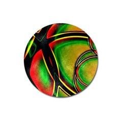 Multicolored Modern Abstract Design Magnet 3  (round) by dflcprints