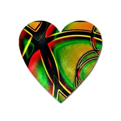 Multicolored Modern Abstract Design Magnet (heart) by dflcprints
