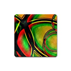 Multicolored Modern Abstract Design Magnet (square) by dflcprints